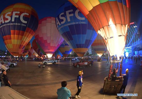 Balloon festival organized by Chinese Balloon Club League held in Xiangyang, China's Hubei