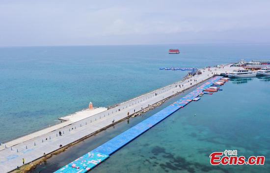 Aerial photos of Qinghai Lake in NW China